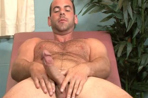 palatable gay Doctor Girth Brooks Masturbating In Office