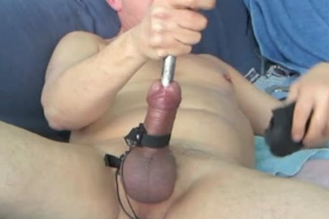 During My Second Session, When My Urethra Was A Bit Wider, I shot My Load while The Sound Was Still In My 10-Pounder. Using 16 And 17mm Sounds During This bdsm Masturbate Session.