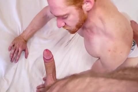 Nextdoorebony redhead receives two monstrous darksome penises
