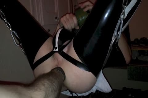 ally Opening My gap In Sling With Popper And Rubber