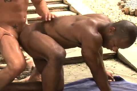 Damian & Eddie Interracial Sex Outdoor