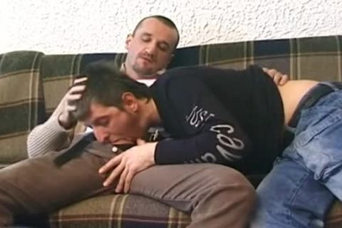 gay Enjoys Deepthroat oral stimulation-job With painfully Barebacking