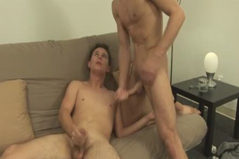 Gay horny twinks take turns