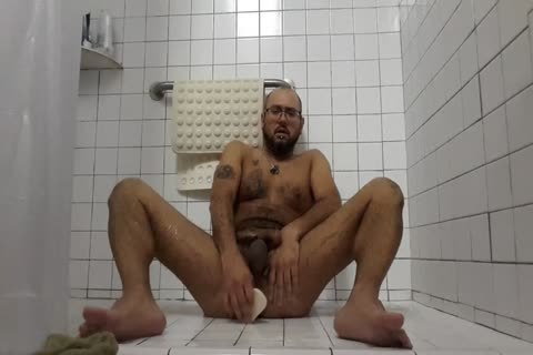 I Was Needing A naughty hammering, So I poke Ed Myself With A sex-vibrator In The Gym Shower.