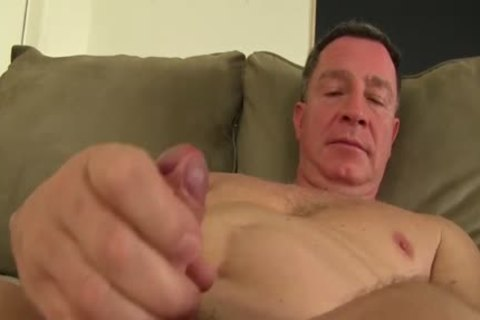 daddy naked guy Fingering His wazoo And Jacking Off