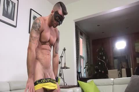 Ripped Masked chap Whips It Out And Plays