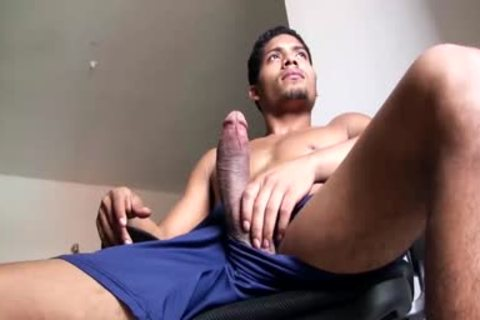 large Dicked fashionable Latino lad Is Working His gigantic Load