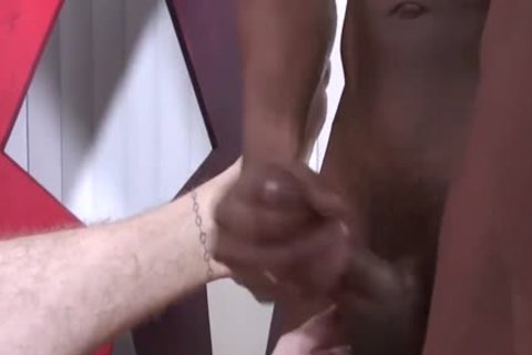 Blond chap having raw interracial homosexual sex