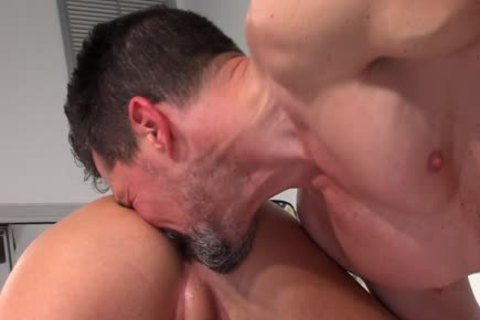 Muscly boy Tugs cock