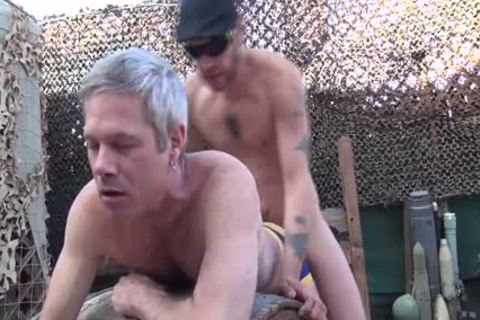 Blond lad acquires His butthole Rimmed And banged Outside doggystyle