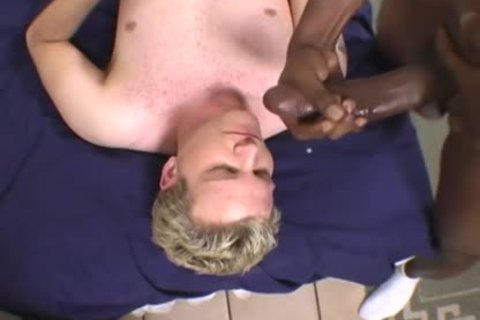 blonde fellow Does Terrible oral stimulation On A BBC