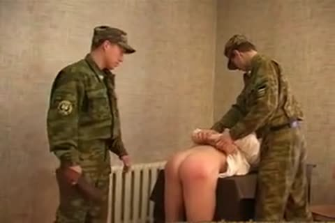 Russian Army thrashing And nailing
