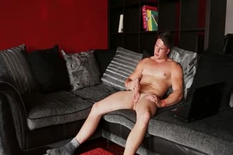 pumped up Hunk Harry Coniston Masturbates In The Living Room
