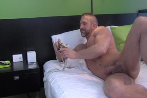 Buff man Showered cum