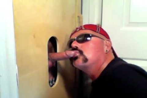 Two lascivious Buddies get A amazing Glory hole suck Off