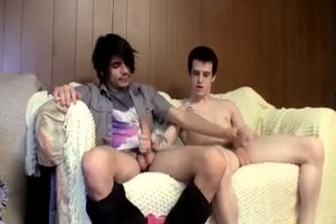 Stragiht teens Devin And Brian Furiously jack off Each Other