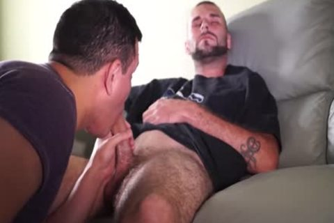 sucking A 8″ Construction Worker wang