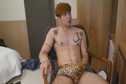 horny Korean man Jerking