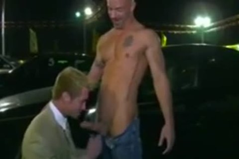 Car Salesman poked On Lot