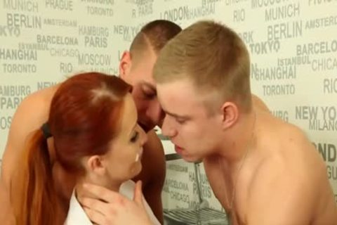 fine bisexual teens plowing With A Redhead