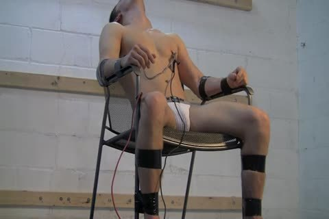 bondage lad In Chair