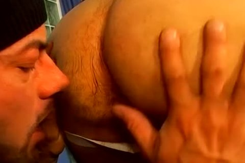 large homosexual Bearded Daddy Hard booty nailed A lusty Buffy Hunk