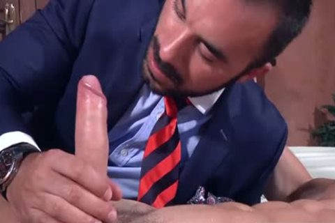 A Super Fit Muscle pecker gets His plump stiff cock Blown On My A Beard chap