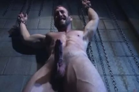 Muscle homo tied and goo flow