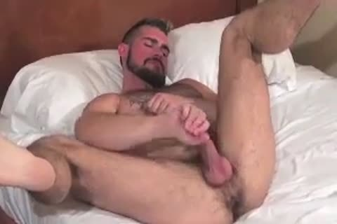 gigantic Bear Daddy Breeds taut wazoo bunch-sex taut hole In Some nice Barebacking Session