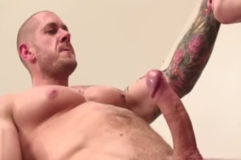Muscle homo tied and sex cream flow