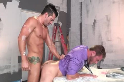 Muscle homo oral-service With sex ball batter flow
