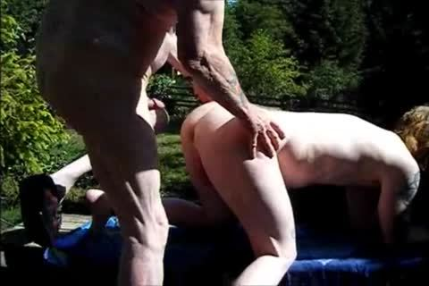 young Redhead bareback With old chap