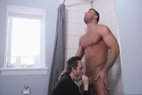 gigantic dong gay fellatio-stimulation With Facial