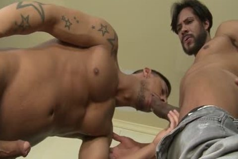 Muscle son hardcore anal job and jizz flow