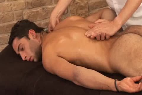 nasty Hunky Adrian Getting worthwhile Sensual Massage On His Searing Body And Hard Tool