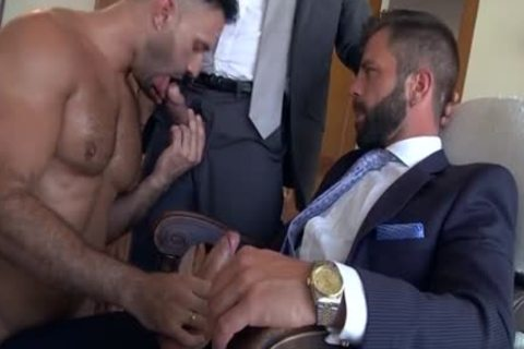 Muscle gay trio And ejaculation