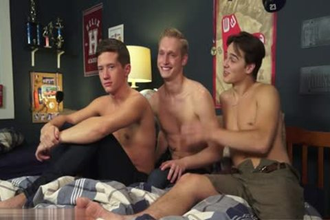 cute homo threesome And cumshot