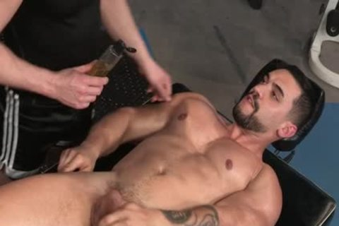 Muscle Bear ass With ass cumshot