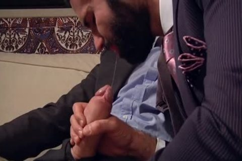 big shlong homosexual ass job With Facial