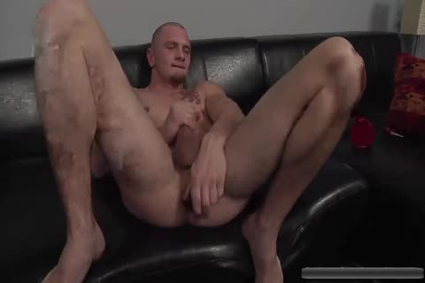 filthy stud Jerks Off With toys