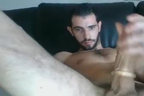 cute French lad Edging With Cockring