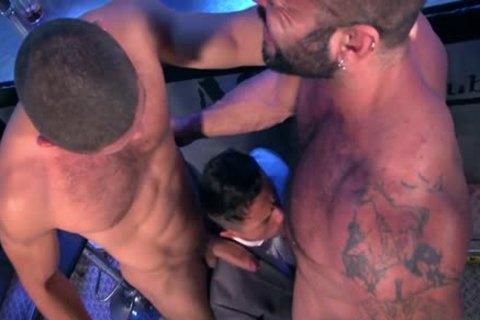 Muscle homo three-some And Facial