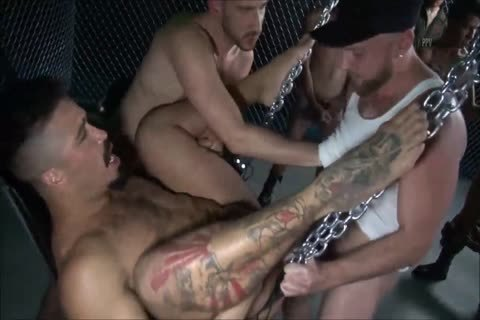 bare - The large bunch gangbang - II