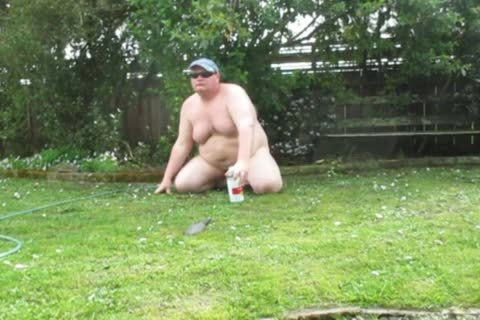 corpulent man Playing In The Mud outdoors