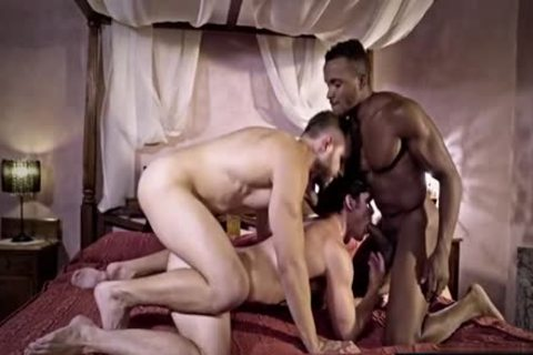 gigantic cock homosexual threesome And cumshot