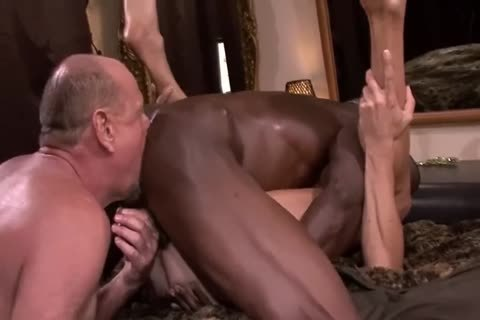 Interracial mature 3some