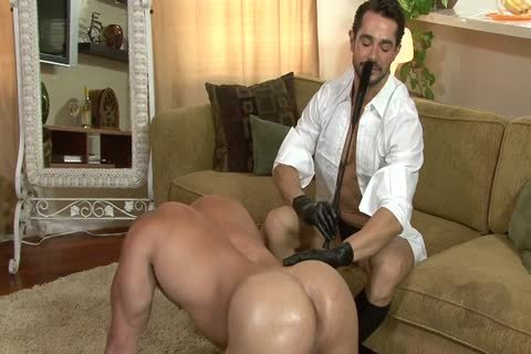 delicious lad On All Fours Used By Other lad In Gloves