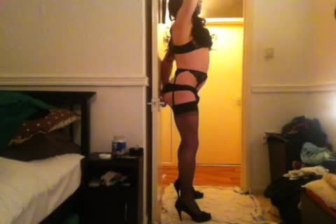 Seamed stockings, fake penis And enormous sperm.