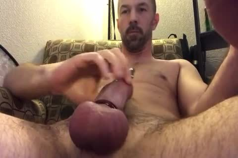 nice Closeup Of Me Playing With My Pierced shlong