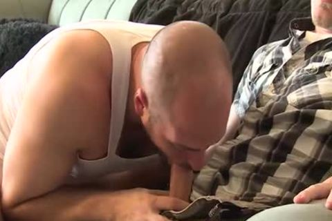 large dick homo threesome With Facial